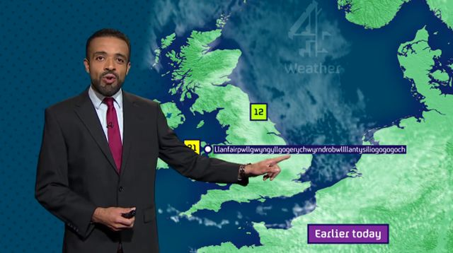 Watch This Weatherman Casually Say 58-Letter-Long Welsh Town Name. Really? WTF
