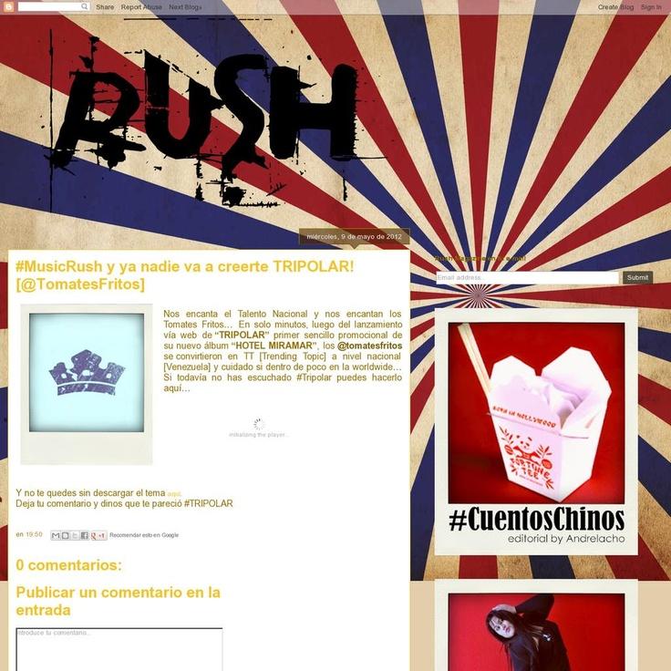 """La recomendación del día: #Musica descargar el nuevo sencillo [Primer promocional de su nuevo disco """"Hotel Miramar""""] de los Tomates Fritos """"Tripolar""""... está sencillamente BRUTAL! 'http://rushmg.blogspot.com/2012/05/musicrush-y-ya-nadie-va-creerte.html'"""