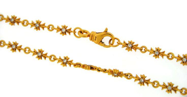 Chrome Hearts 2006 Cross Diamond 22K Yellow Gold Necklace   eBay £4400