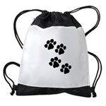 Animal Paw Prints Drawstring Bag