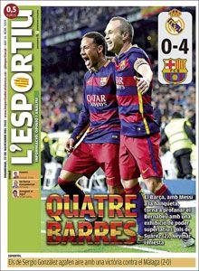 Descubre las mejores portadas de los periódicos deportivos de España y Europa del día de hoy Domingo, 22 de noviembre de 2015 en la web de MARCA.com