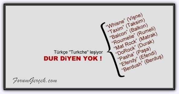 Türkçenin Kirlenmesi - Forum Gerçek