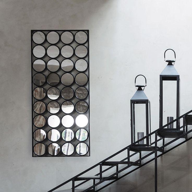 Miroir en métal noir H 156 cm GEOMETRIC