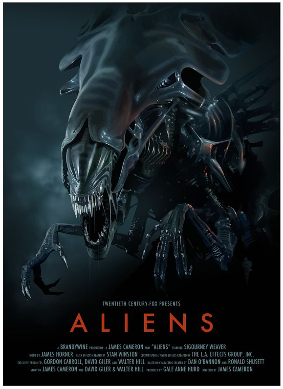 """Aliens"" - The planet from Alien (1979) has been colonized, but contact is lost. This time, the rescue team has impressive firepower, but will it be enough? Image and info credit: IMDb."