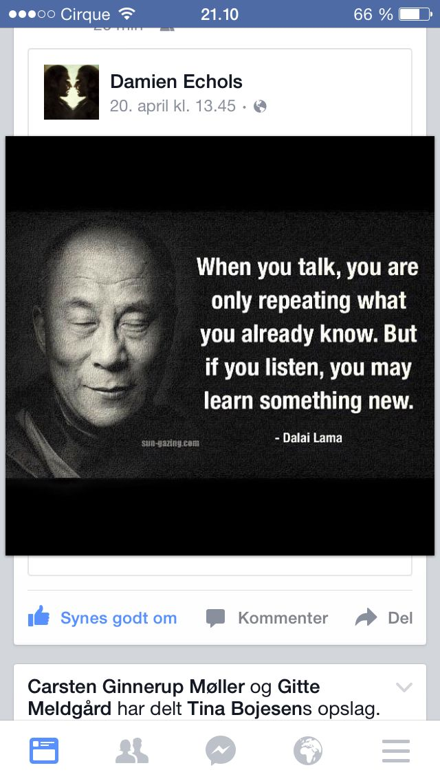Husk: to ører - én mund