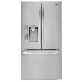 LG 31.7-cu ft French Door Refrigerator with Single Ice Maker (Stainless Steel) ENERGY STAR  NICE 2698.00 LOWES ck GOOD REVIEWS