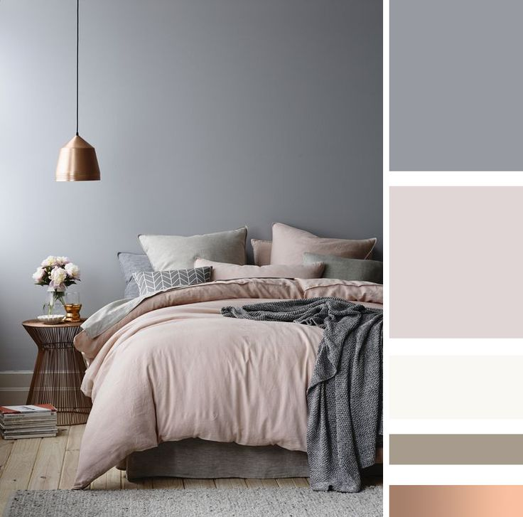 Camera da letto: le mie ispirazioni Bedroom inspiration - pink - blue - gray
