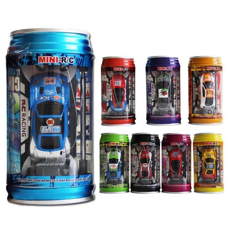 Coke Can Mini Speed RC Radio Remote Control Micro Racing Car Toy Gift Random Color Дистанционное Управление Машина