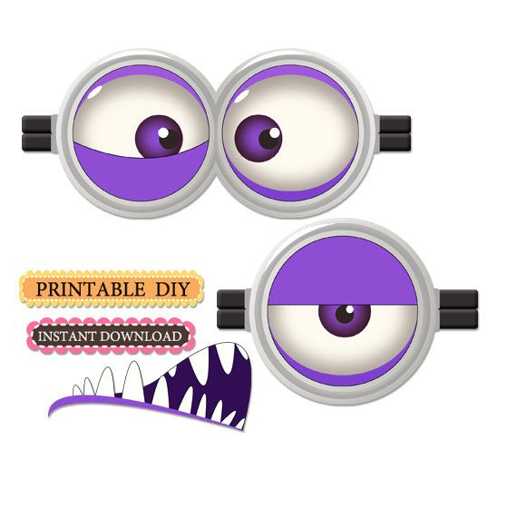 Instant download Purple Minion Eyes for balloons, party favors by lauraspartyshop on Etsy https://www.etsy.com/listing/260112004/instant-download-purple-minion-eyes-for                                                                                                                                                                                 More