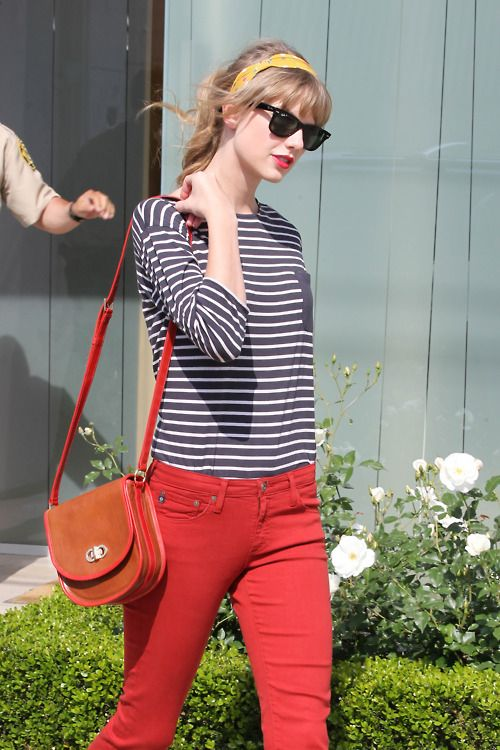 I think Taylor and I have the same jeans!