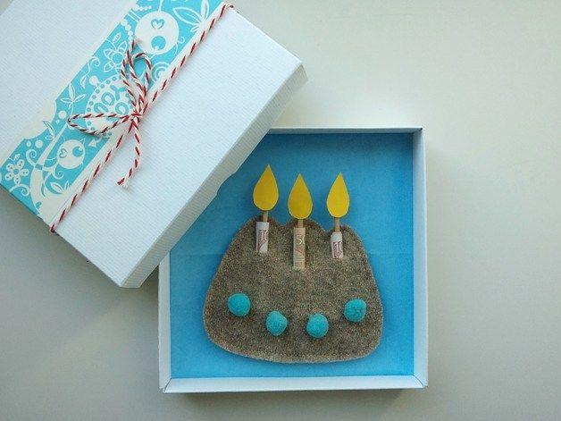 Geldgeschenk Geburtstag 'Geburtstagskuchen' ˜