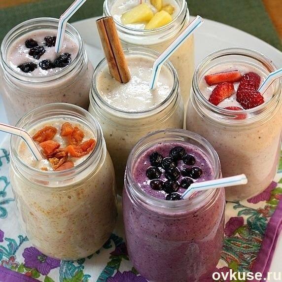 Полезные рецепты фруктовых Смузи с овсянкой для похудения на завтрак или перекус