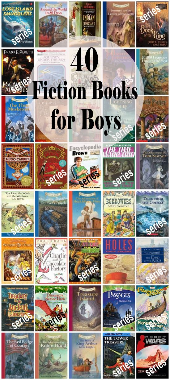 40 Fiction Books for Boys (ages 8-14)