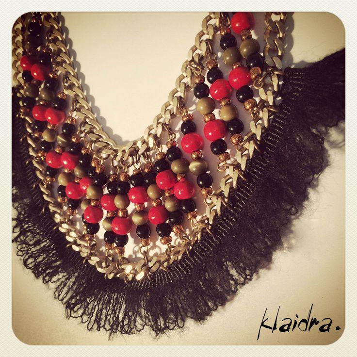 The *mayan* mohair beaded necklace #klaidra #fw15 #newdesigns #designers #sneakpeek #jewelry #handmade #bohemian #ethnic #gypsy #fashion #pompom #beaded #necklace #greekdesigners #klaidrajewelry