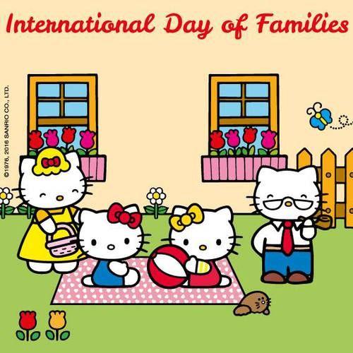 Family hug! Happy International Day of Families! Hello Kitty, May 2016
