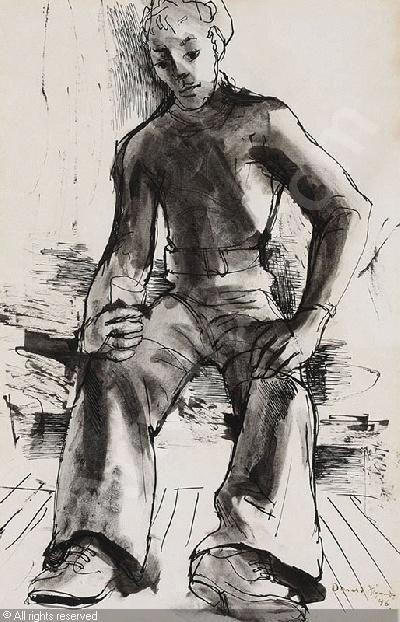 Donald Friend  - Sailor - 1946