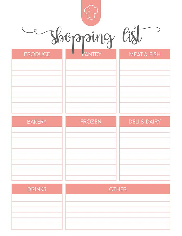 The 25+ best Free printable meal planner ideas on Pinterest Meal - printable meal planner
