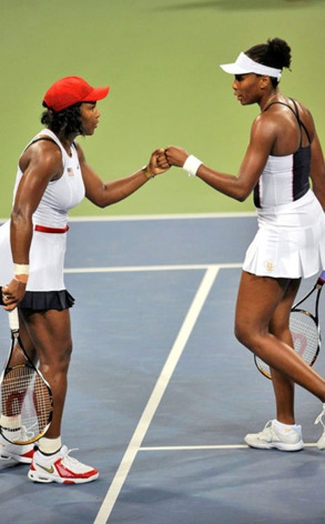 Serena Williams, Venus Williams have 5 gold medals between them! em' girls!