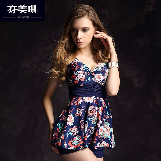 Yi Meishan female conservative skirt siamesed cover belly thin steel support and hot spring swimming angle gather US $61.07 Specifics Material	Spandex Pattern Type	Print Support Type	Underwire With Pad	No Gender	Women Item Type	One Pieces Time to market	In the fall of 2015 Item no	YMS156814 Style	Skirt one Whether to strip girdle padding	Strip girdle padding  Click to Buy :http://goo.gl/t9O329
