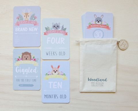 Moment and Milestone Cards - Unisex Woodland Collection