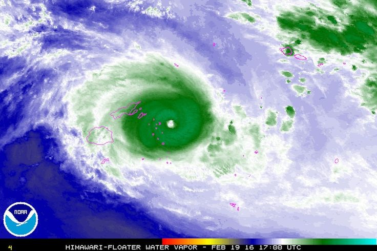 Extremely intense Tropical Cyclone Winston is on course to make a direct hit on Fiji's capital this weekend.