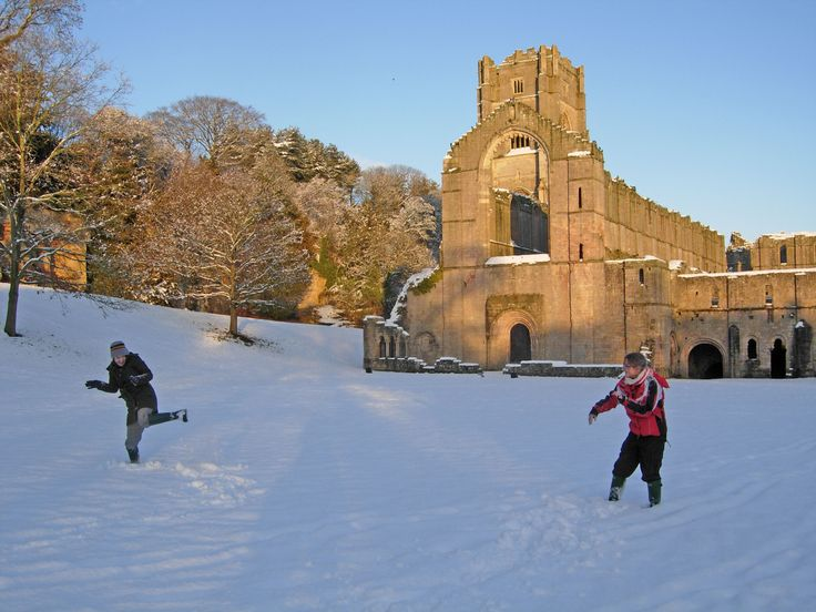 Are you dreaming of a White Christmas? Enjoy snowball fights at our beautiful houses & gardens. By visiting us, you help us conserve special places like Fountains Abbey in Yorkshire, forever. Or visit our top cottages for a winter getaway https://www.nationaltrust.org.uk/lists/top-cottages-for-a-winter-getaway