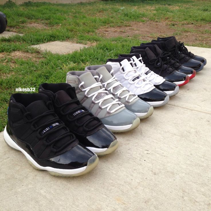 Air Jordan Space Jam 11, Cool Grey 11, Concord 11, Bred 11, Gamma Blue 11
