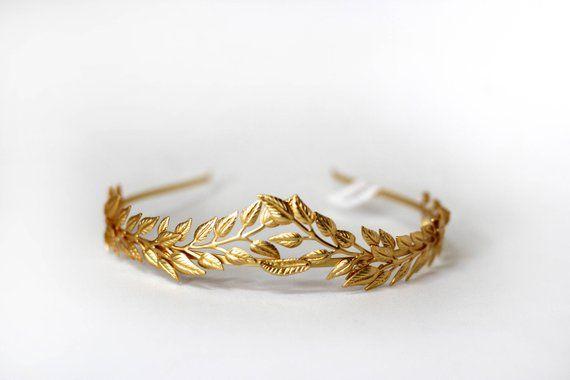 Roman Oro Foglia Stile Bracciale Bangle Dea Greca Costume di Scena