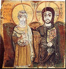 Christ and Saint Menas. A 6th-century Coptic icon from Egypt (Musée du Louvre)