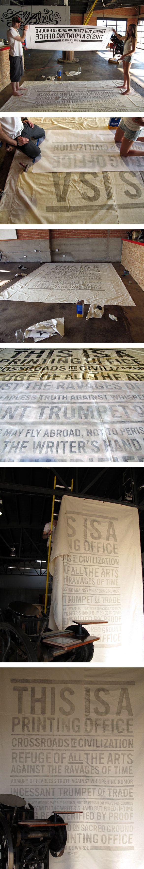 print large Comment imprimer une bannière géante sur du tissu ?