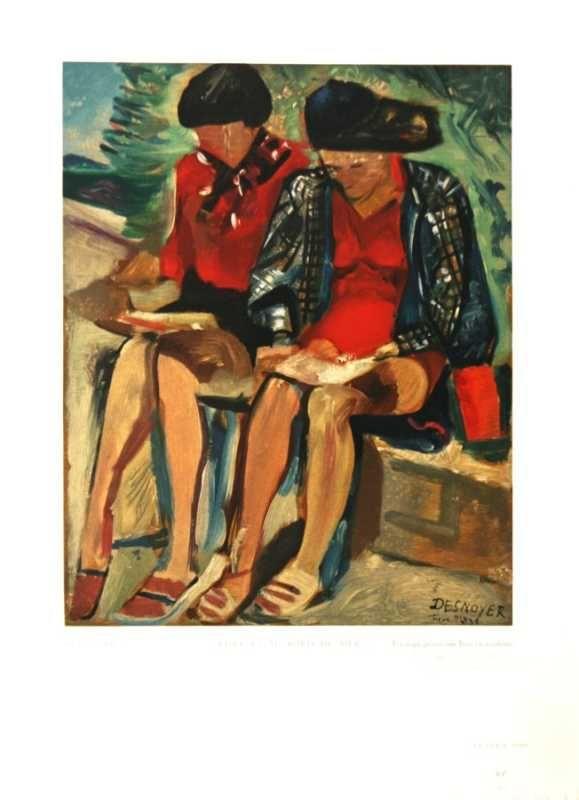 Liseases Au Bard De Mer by Francois Desnoyer