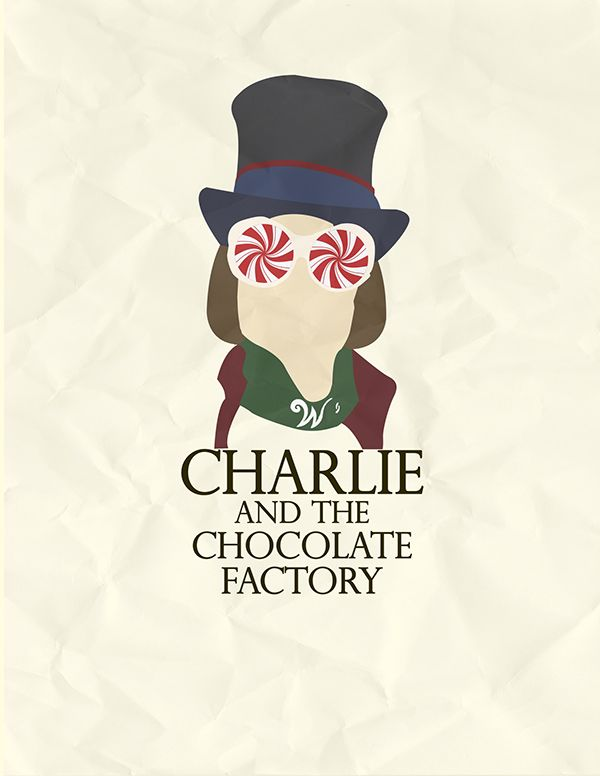 Charlie and the Chocolate Factory (2005) ~ Minimal Movie Poster by Catherine Salgado #amusementphile