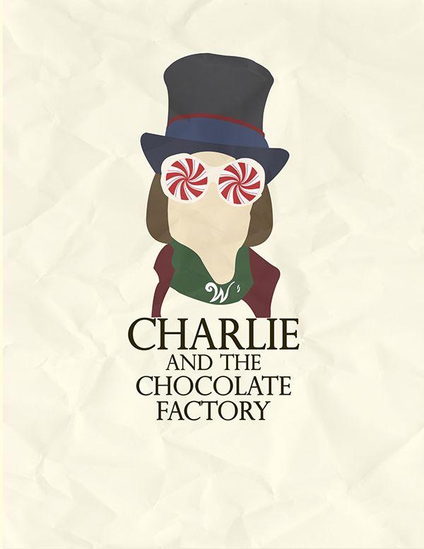 Charlie and the Chocolate Factory (2005) ~ Minimal Movie Poster - plein de tablette dans le fond et une en or