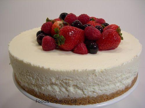Tarta de chocolate blanco, queso y frutos rojos (Thermomix)