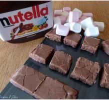 Recette - Fudge marshmallows et Nutella... - Notée 4/5 par les internautes