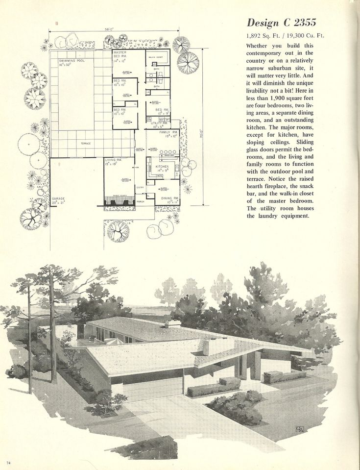452 best House Plans images on Pinterest | Vintage houses, Modern ...