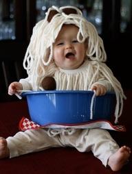 Spaghetti and Meatballs Costume...too cute.  #costume #inspiration #halloween #tricks #treats #babysdream