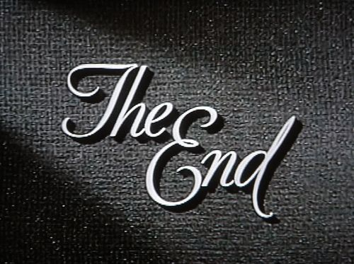 Most movies always ended with these two words