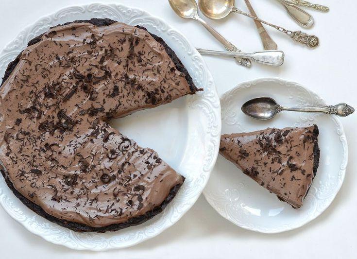 dýňový brownie dort