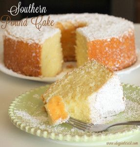 Southern Pound Cake - Moist, lemon-y and super easy to make!