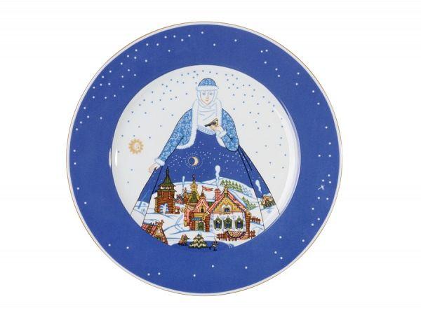 Тарелка мелкая 265 мм форма Европейская рисунок Снежная история арт. 80.80790.00.1, Европейская - Снежная история,Тарелка мелкая,Снежная история,Европейская