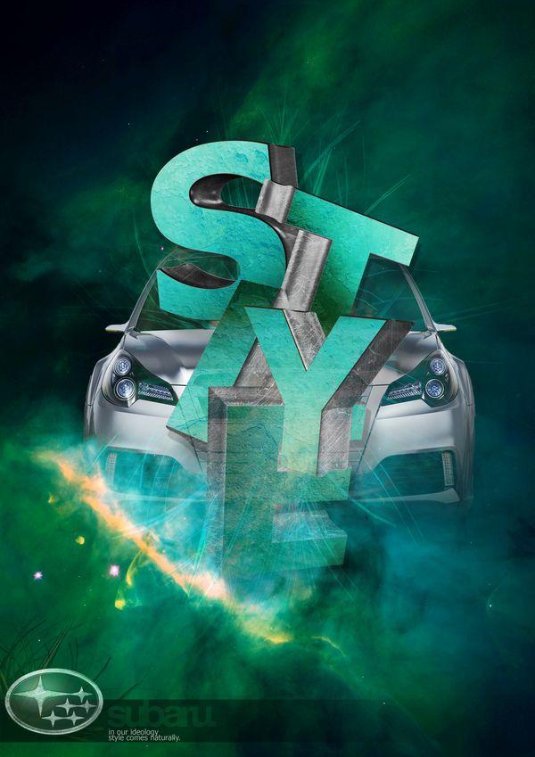 Subaru Car Advert Posters by Matthew Maynard, via Behance