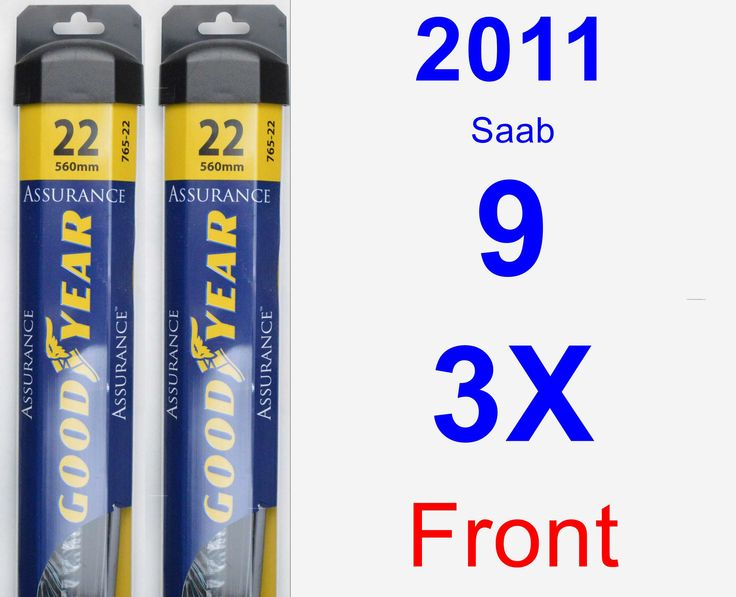 Front Wiper Blade Pack for 2011 Saab 9-3X - Assurance