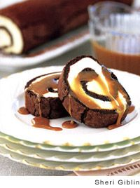Brown Sugar Ice Cream Chocolate Roulade