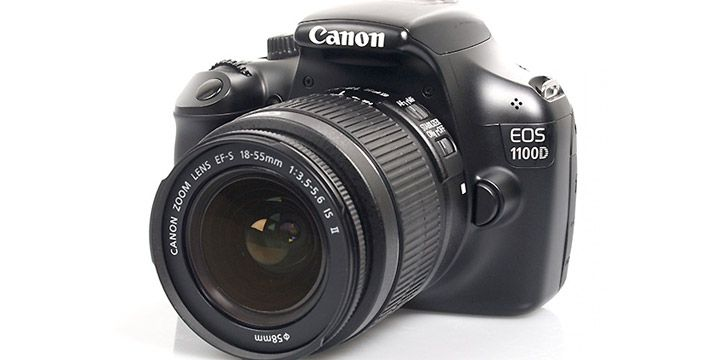 Cámara réflex Canon EOS 1100D + objetivo . AHORRO 18%. 374.95€. #ofertas #descuentos