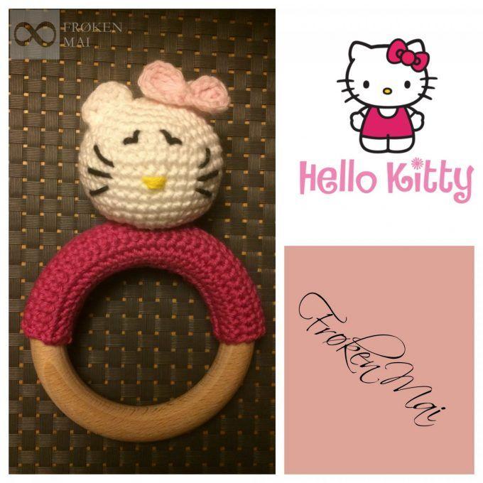 Helllo kitty Hæklet Rangle Crochet Rattle HelloKitty