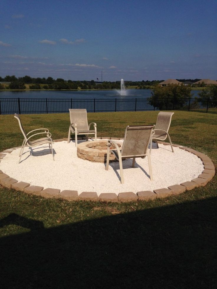 Fire Pit with Pea Gravel and Pavers which is a feature from Waste Not Wednesday-48 by Repurpose and Upcycle   www.raggedy-bits.com