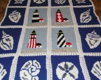 nautical crochet afghan patterns - Google Search