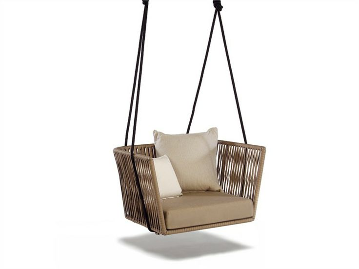 Good Hanging Polyester Garden Armchair Garden Suspended Chair Bitta Collection  By KETTAL