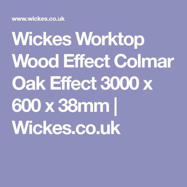 Wickes Worktop Wood Effect Colmar Oak Effect 3000 x 600 x 38mm | Wickes.co.uk